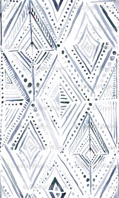 Boho Diamond-Navy-White