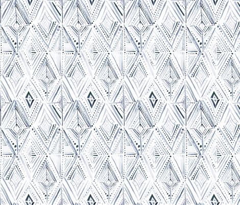 Boho Diamond-Navy-White fabric by crystal_walen on Spoonflower - custom fabric