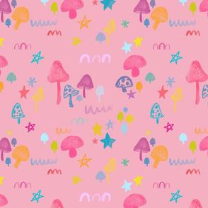 Mushroom Pattern - spoonflower