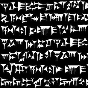 Babylonian Cuneiform on Black // Large