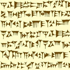 Babylonian Cuneiform in Brown & Parchment // Large
