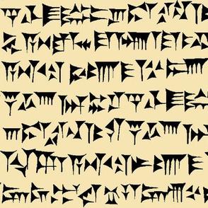 Babylonian Cuneiform on Tan // Large