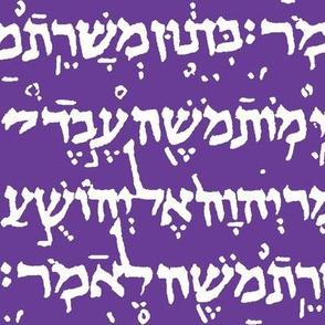 Hebrew on Royal Purple // Large