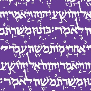 Hebrew on Royal Purple // Small