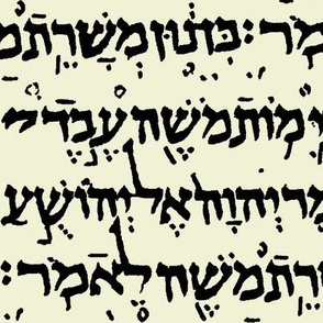 Hebrew on Parchment // Large