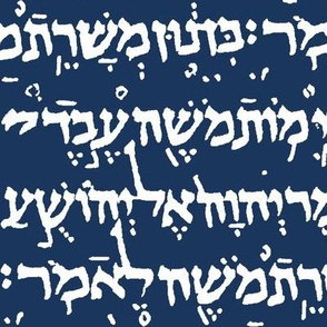 Hebrew on Navy Blue // Large