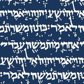 Hebrew on Navy Blue // Small