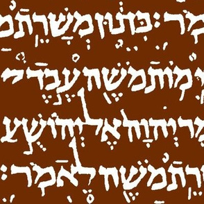 Hebrew on Maroon // Large