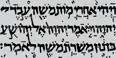 Hebrew on Light Grey // Large