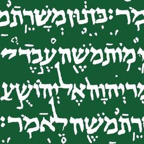 Hebrew on Crusoe Green // Large