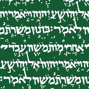 Hebrew on Crusoe Green // Small