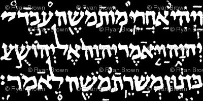 Hebrew on Black // Large