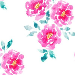Statement Pink Watercolor Roses