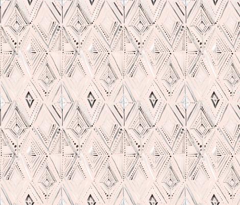 Boho Diamond peach fabric by crystal_walen on Spoonflower - custom fabric