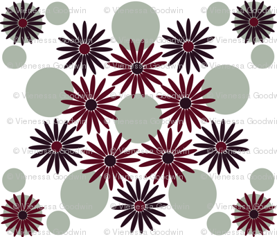 Elegant holiday flower with dots