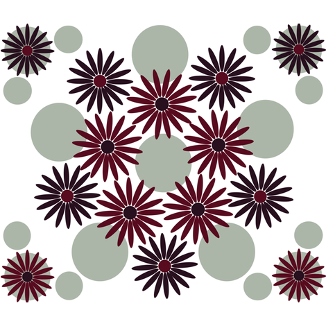 Elegant holiday flower with dots fabric by sharpeirox on Spoonflower - custom fabric