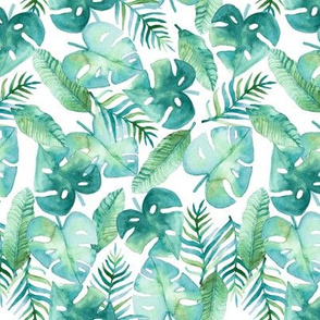 Cyan Tropical Jungle