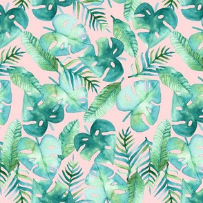 Tropical Jungle on Pink