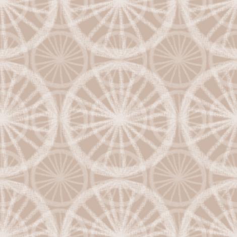 Big wheels on small wheels, in pale white chalk on soft mud, by Su_G fabric by su_g on Spoonflower - custom fabric