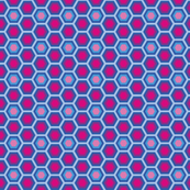 Hexagon pink and blue