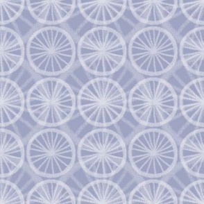 Small wheels on big wheels, in pale white chalk on soft Prussian Blue, by Su_G