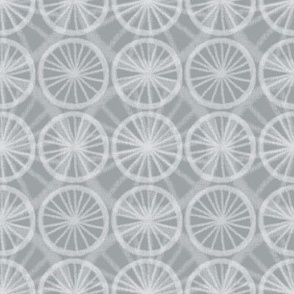 Small wheels on big wheels, in pale white chalk on soft gray, by Su_G