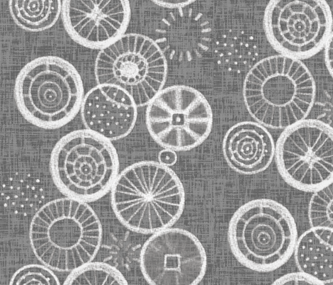 Wheels up! White on linen weave gray, by Su_G fabric by su_g on Spoonflower - custom fabric