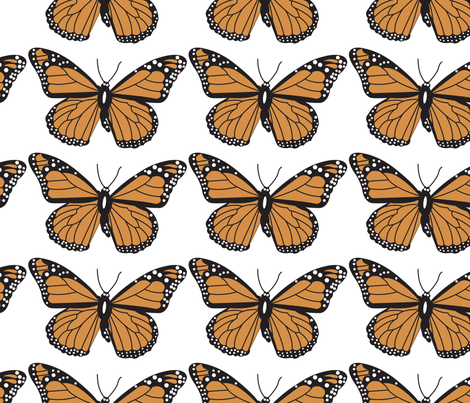 butter fly01 fabric by mira_design on Spoonflower - custom fabric