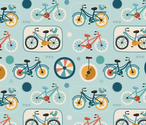 Cycling fabric by la_fabriken on Spoonflower - custom fabric