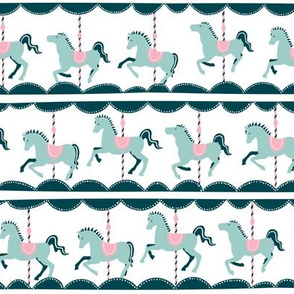 Vintage Carousel // mint-pink // FunFair Collection