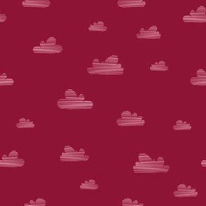 Small clouds // red-pink // Fun Fair Collection