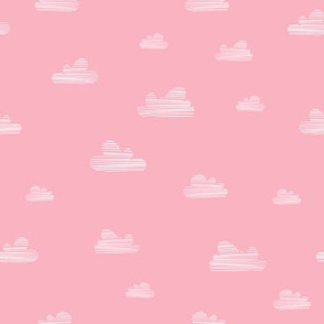 Small clouds // pink-white // Fun Fair Collection
