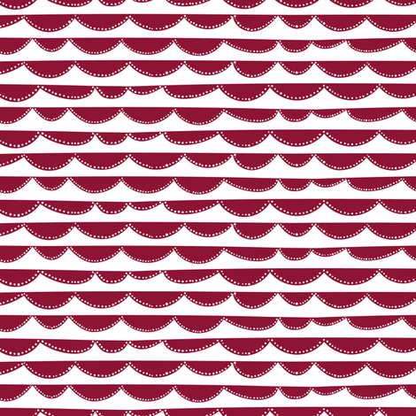Arc // red // Fun Fair Collection fabric by modeern on Spoonflower - custom fabric