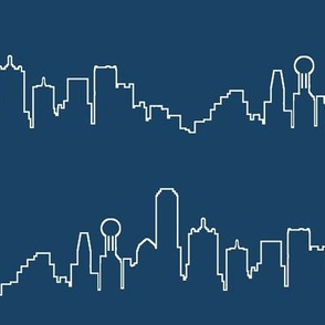 Dallas, TX on Navy Blue // Large