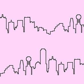 Dallas, TX on Light Pink // Large