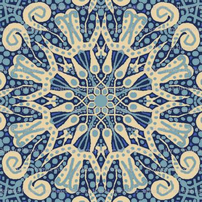WheelFlower #1 - Blue