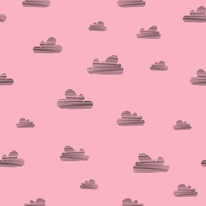 Small clouds // pink-black // Fun Fair Collection