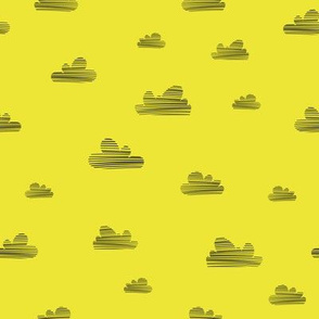 Small clouds // lemon-black // Fun Fair Collection
