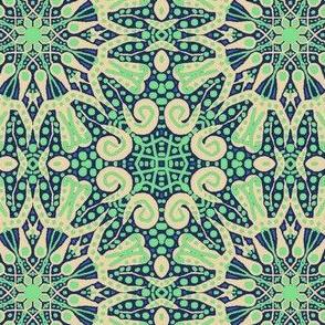 WheelFlower #3 Turquoise Green