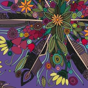 bohemian posy violet