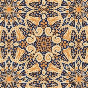 WheelFlower #6 - Yellow-Orange