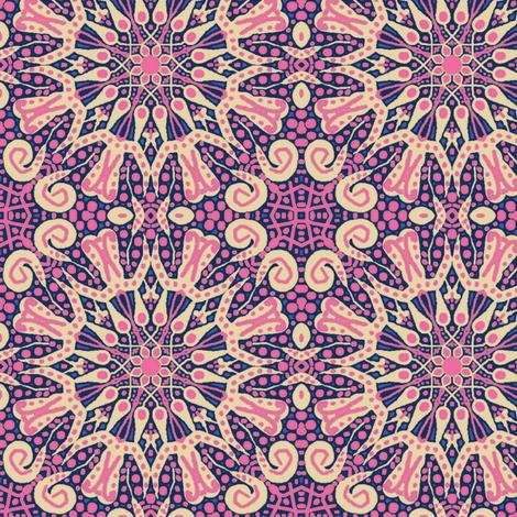 WheelFlower #9 - Pink fabric by tallulahdahling on Spoonflower - custom fabric