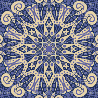 WheelFlower #11 -  Violet Blue