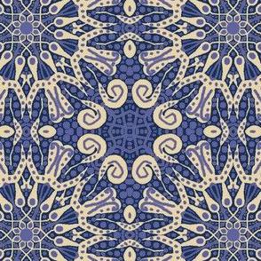 WheelFlower #11 -  Violet Blue