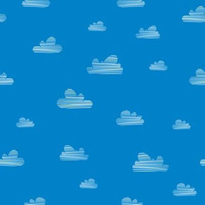 Small clouds // blue-white // Fun Fair Collection