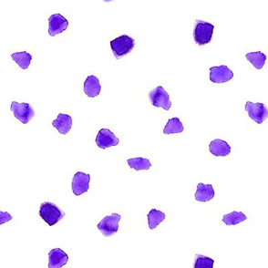 Purple watercolor dots || cute stain pattern for nursery