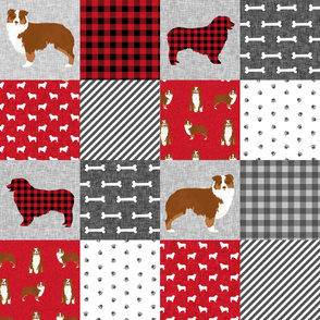 aussie red tricolored cheater quilt pet quilt a wholecloth