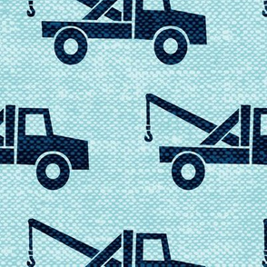 (Jumbo scale) tow trucks (blue on blue) W