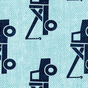 (Jumbo scale) tow trucks (blue on blue) W  (90)