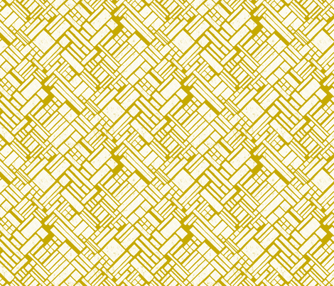 Fisheries in Yellow fabric by meduzy on Spoonflower - custom fabric